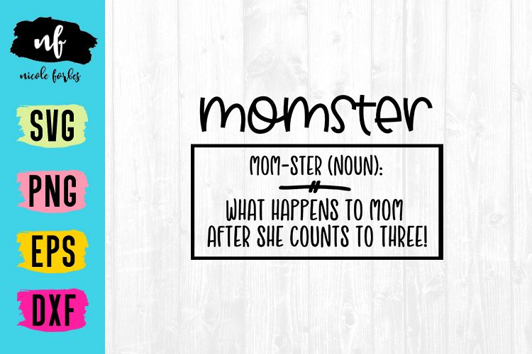 Momster SVG Cut File example image 1