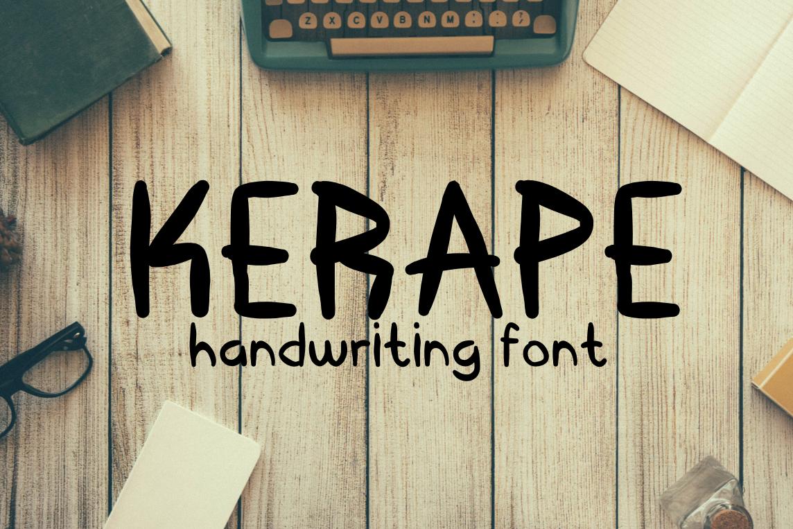 Kerape Handwritting Font example image 1