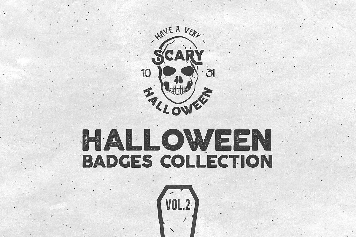 Halloween Badges Set. Vol.2 example image 1