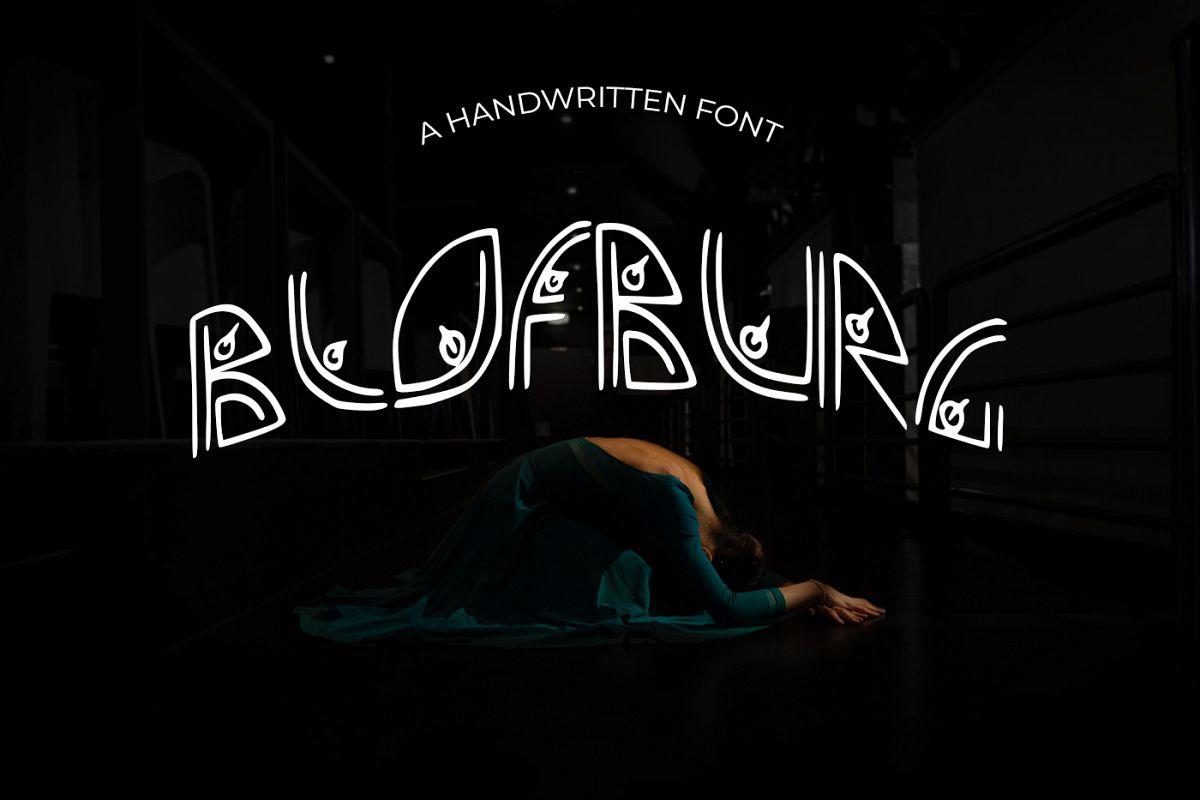 Blofburg Font example image 1