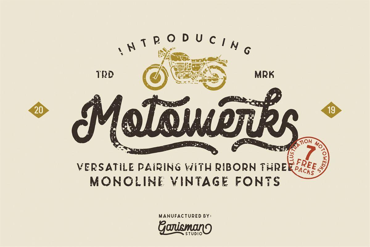 Motowerks Vintage Script example image 1