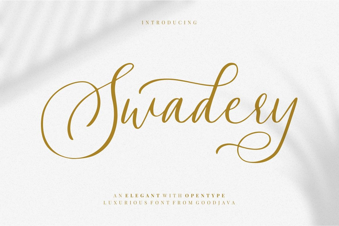 Swadery - Luxury Font example image 1