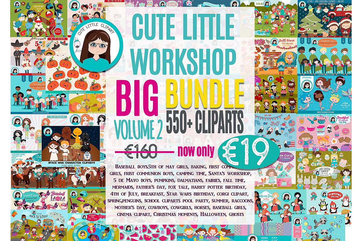 Big Bundle Clipart Volume 2 example image 1