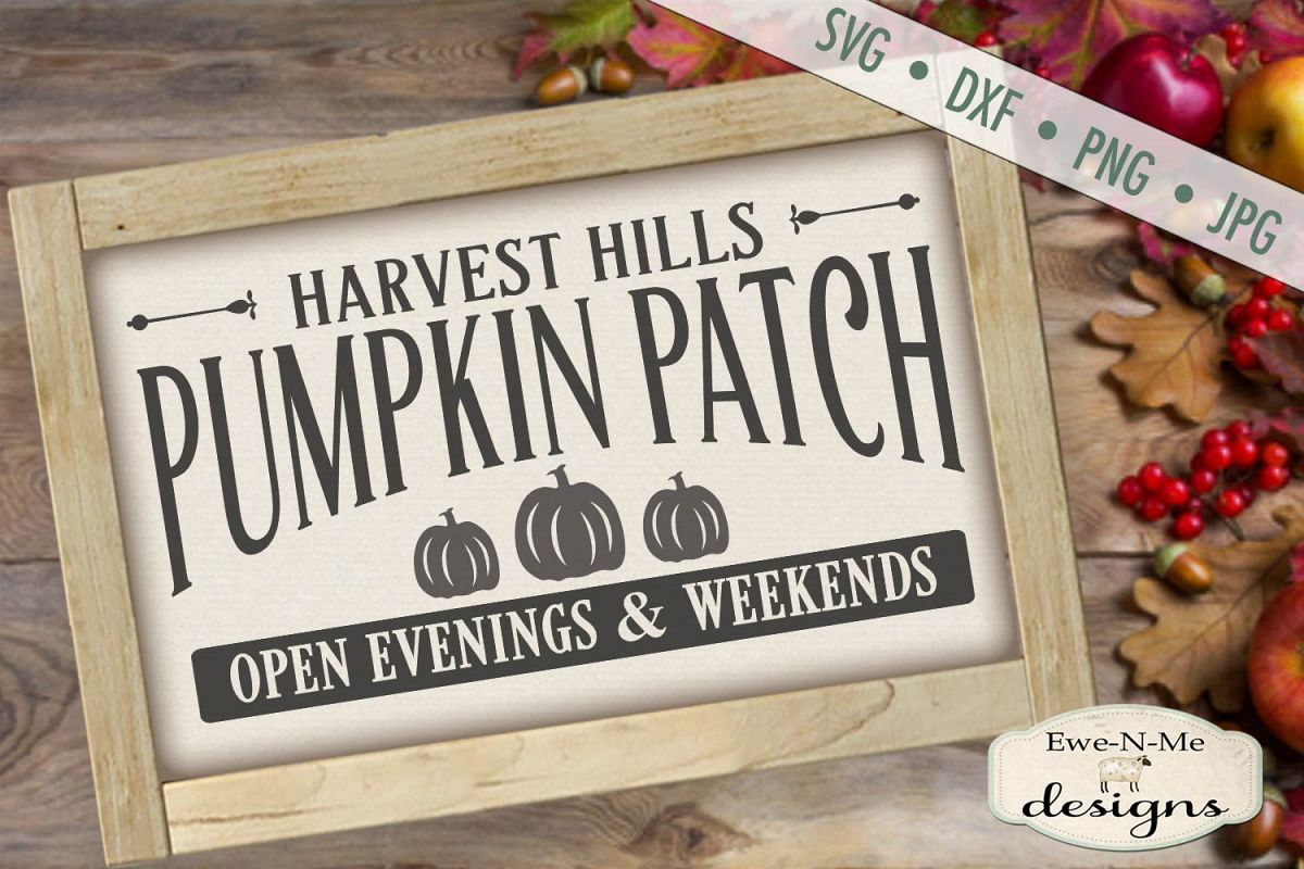 Pumpkin Patch - Harvest - Fall - Autumn - SVG DXF example image 1