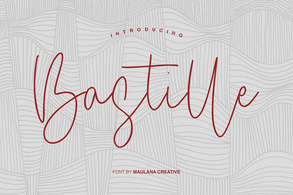 Bastille Signature Font example image 1