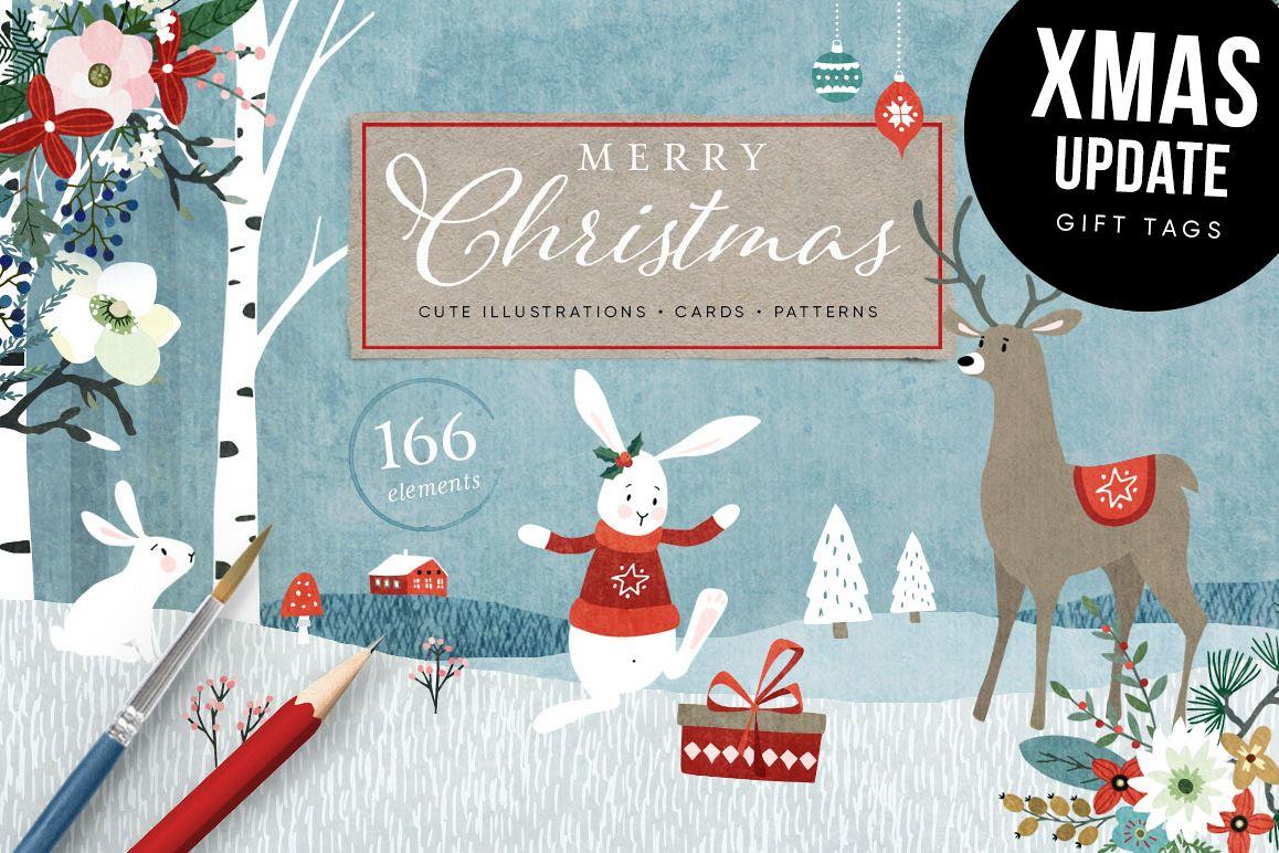 Merry Christmas set, 166 elements example image 1