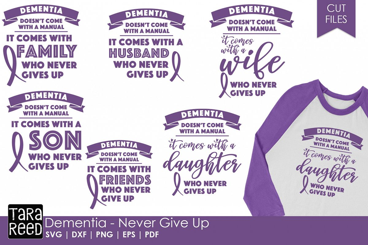 Dementia Awareness - SVG & Cut Files for Crafters example image 1