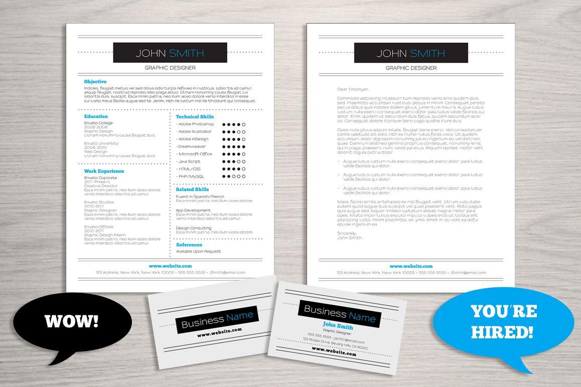 Resume Business Card Bundle example image 1