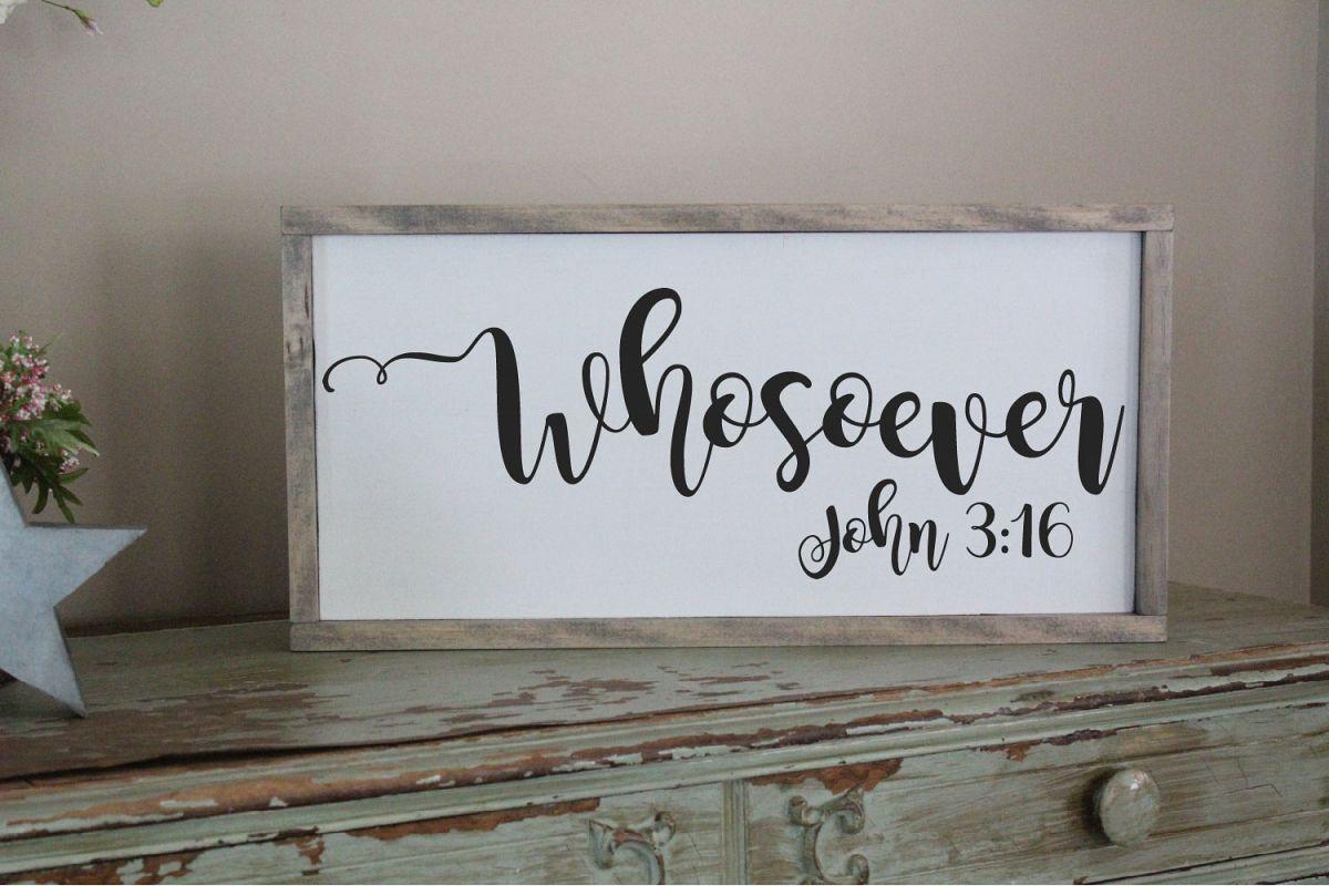Whosoever John 3 16 SVG, For God So Loved The World example image 1