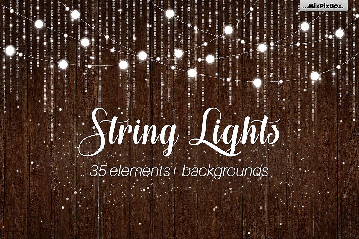 String Lights v3 clipartbackgrounds example image 1