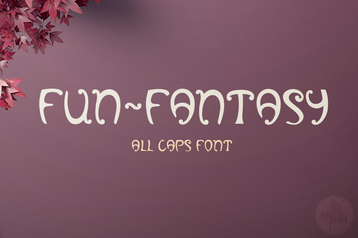 Fun-Fantasy font, Alphabet letters in SVG example image 1