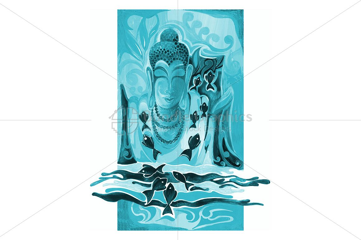 Lord Buddha - Abstract Painting example image 1