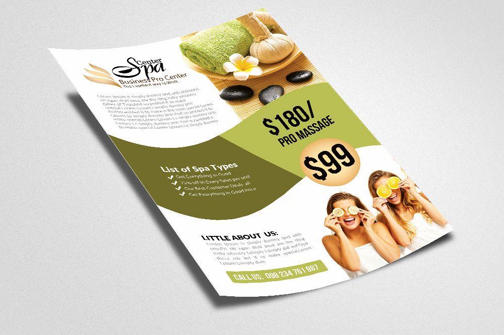 elegant spa flyer templates