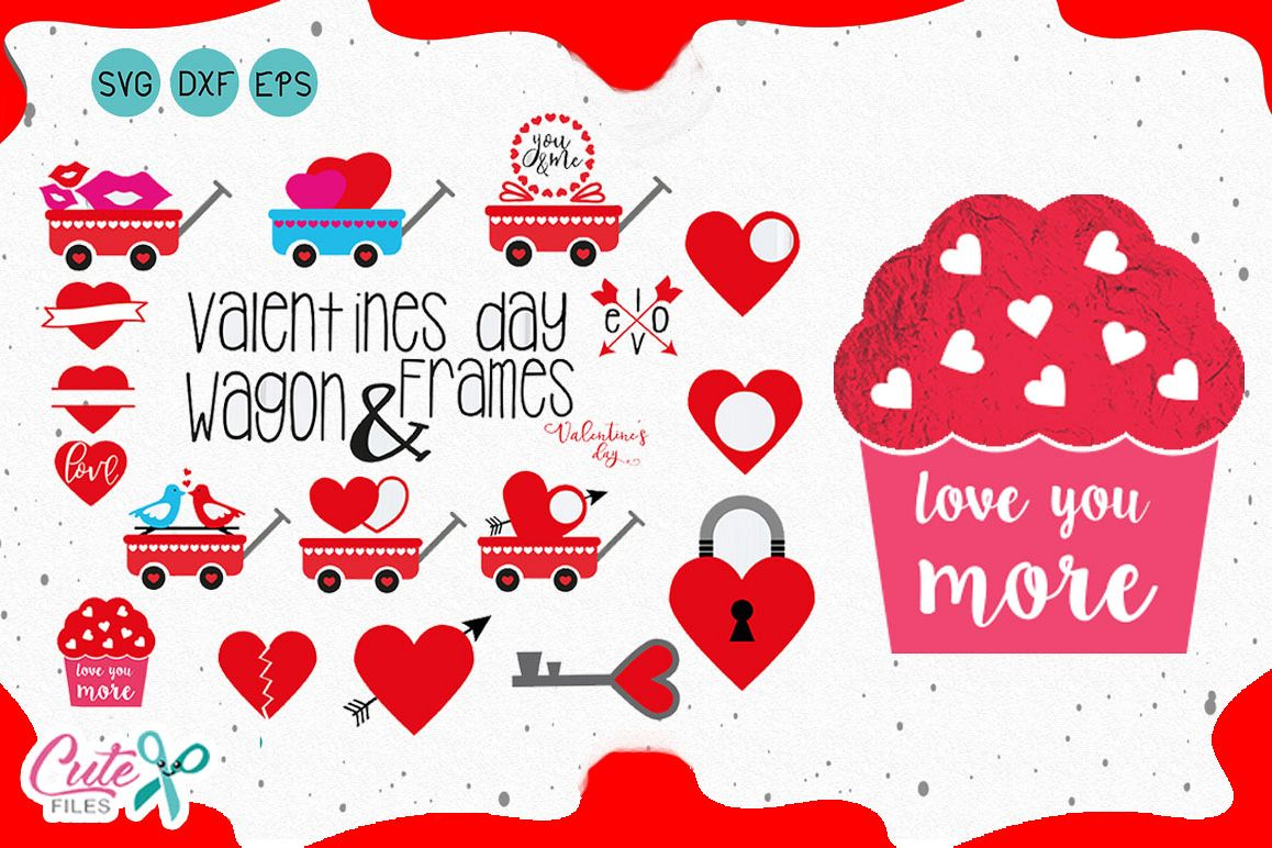 Hearts Monograms Valentines Day Files For Crafters