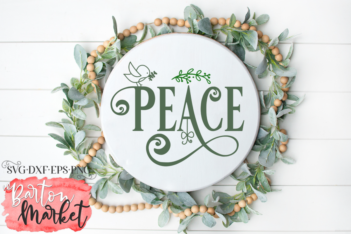 Peace SVG DXF EPS PNG example image 1