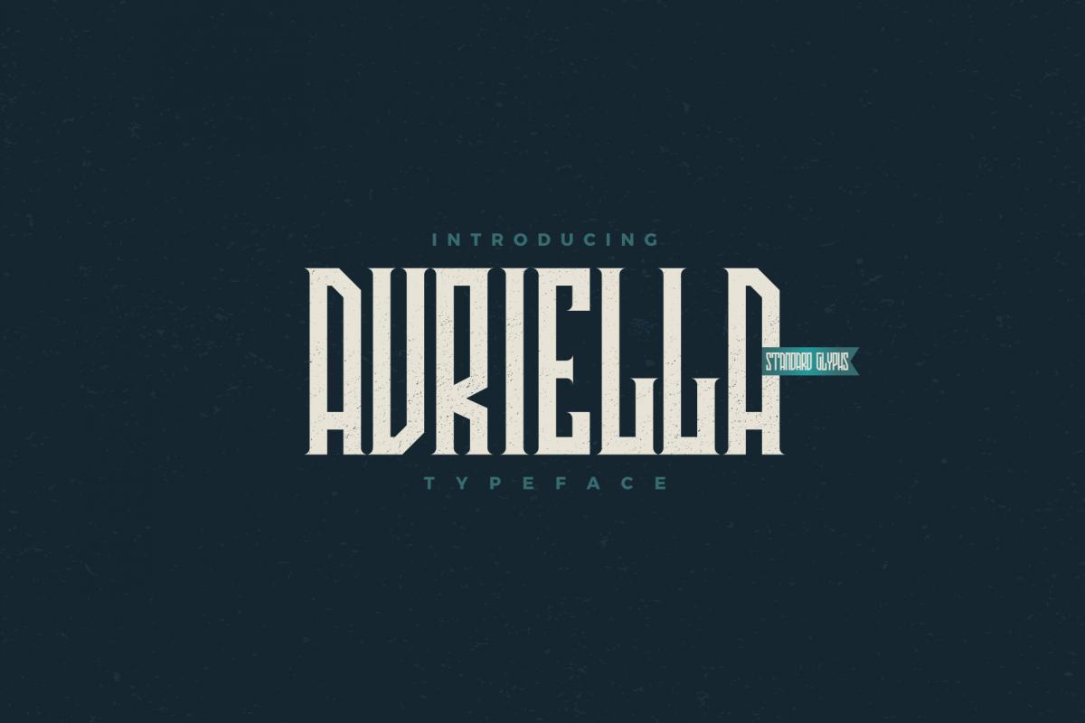 Avriella Display Font example image 1