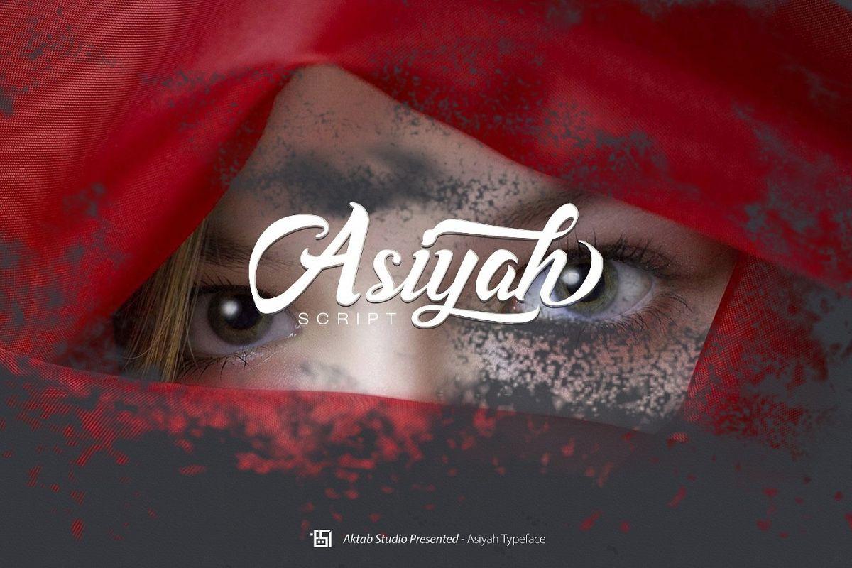 Asiyah Script Font example image 1