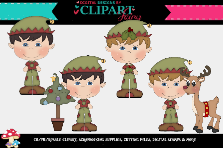 Christmas Elf boys 1 example image 1