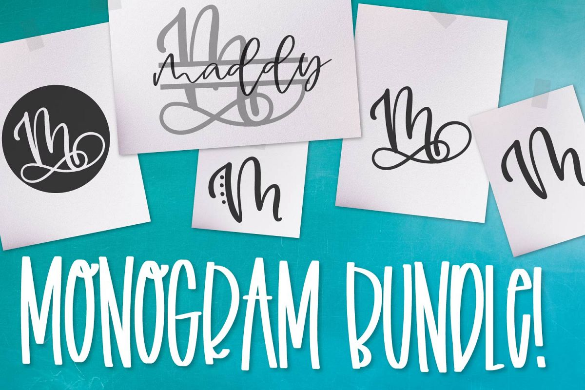 Monogram Bundle - FIVE Styles Including a Split Monogram! example image 1