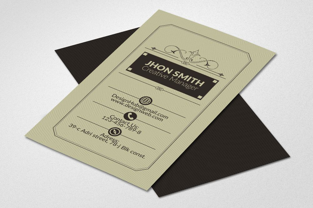 Vertical Retro Business Cards example image 1