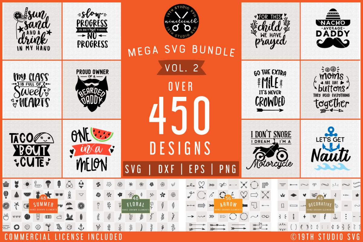 SVG Bundle | Mega SVG Bundle Vol.2 | SVG DXF EPS PNG | MG2 example image 1
