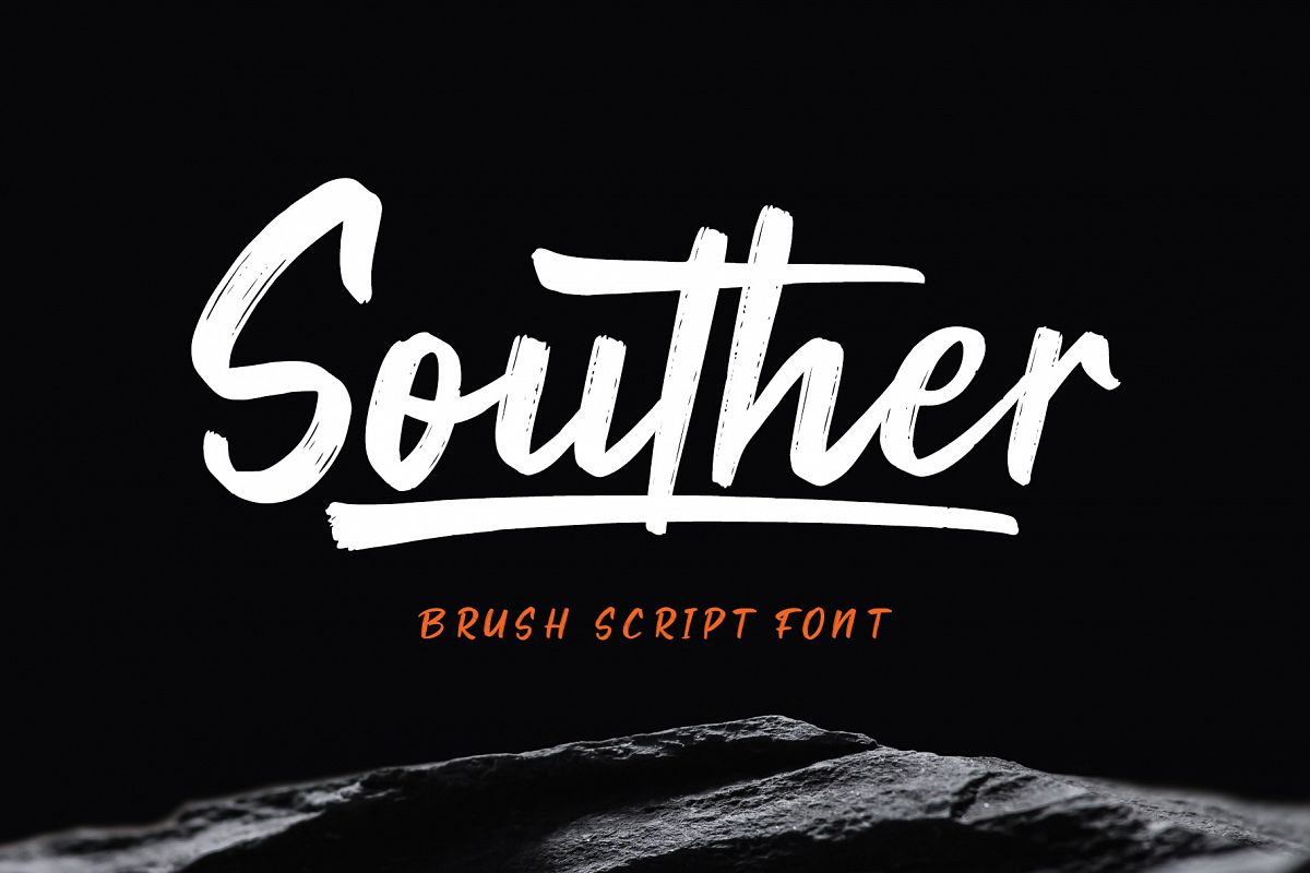 Souther - Brush Script Font example image 1