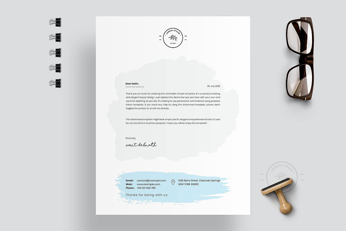Modern Letterhead Template example image 1
