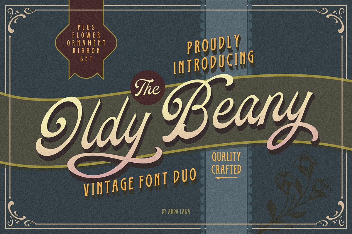 Oldy Beany Font Duo with Extras example image 1