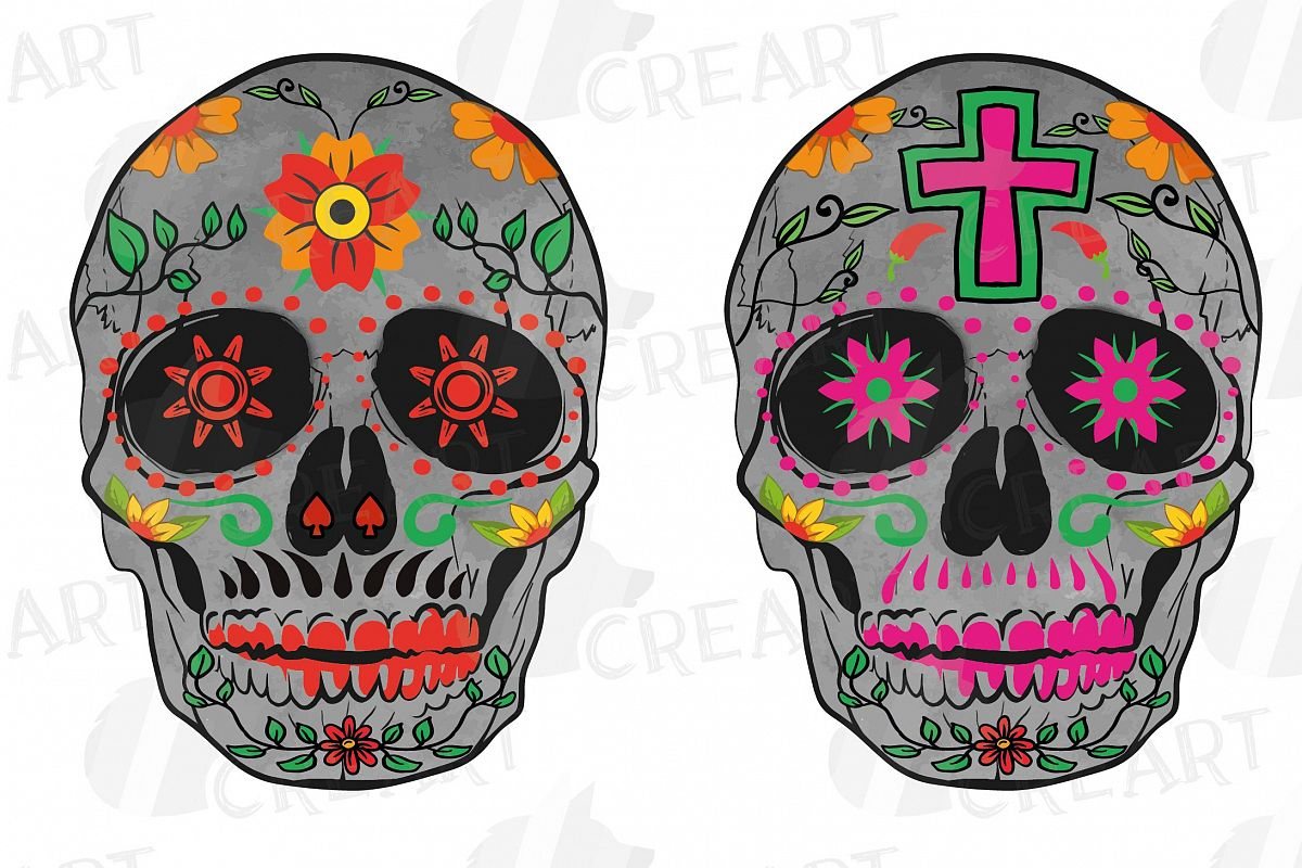 graphic about Sugar Skull Printable named Sugar skull printable blouse decoration clip artwork