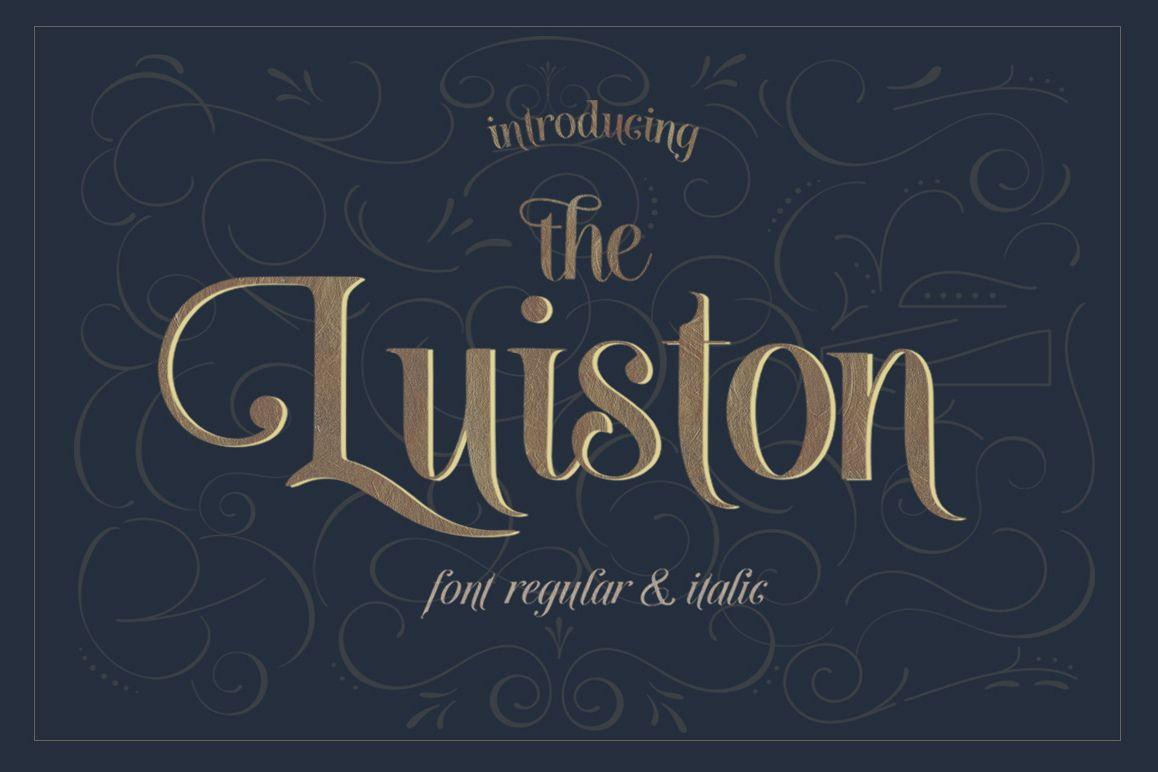The Luiston San Serif example image
