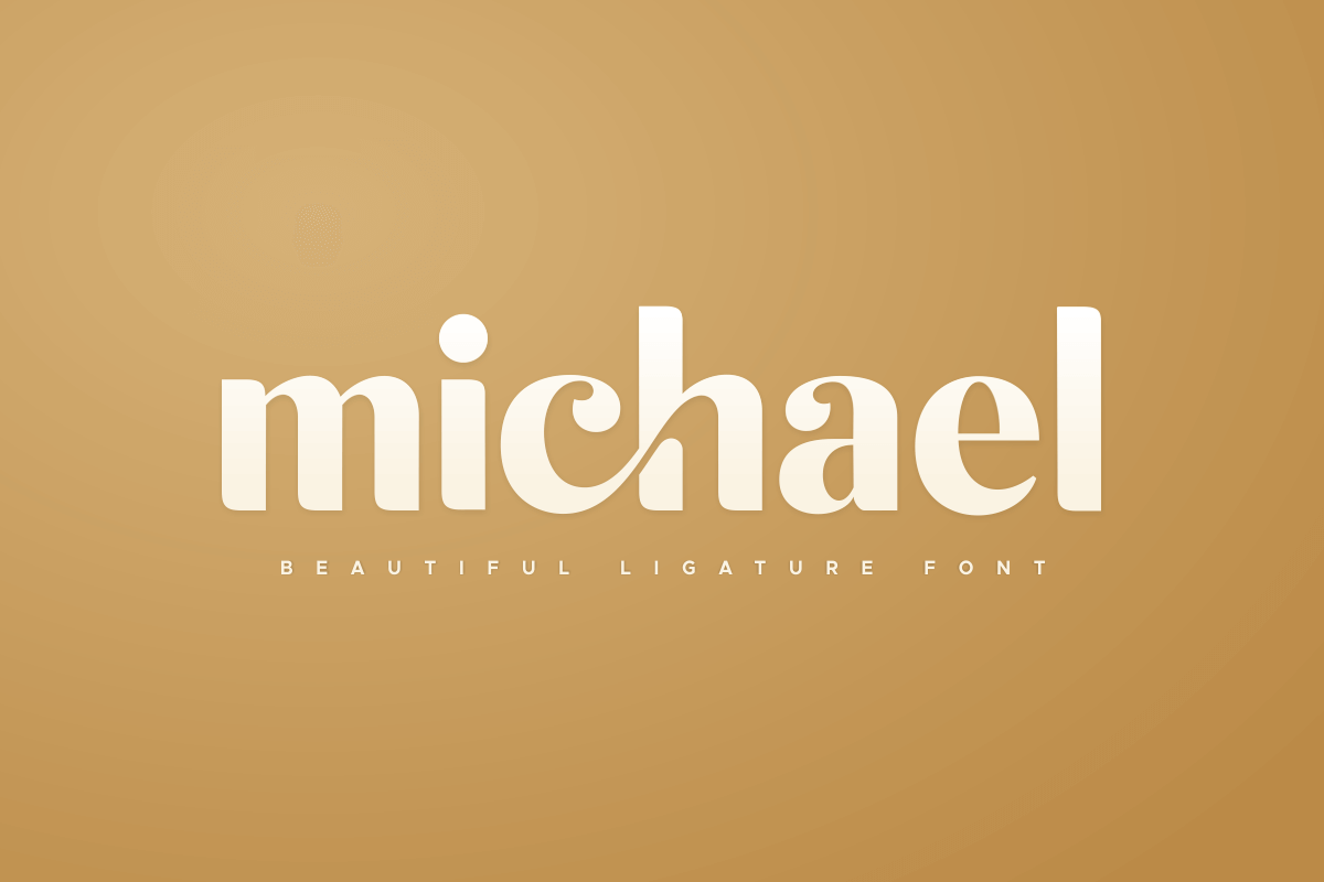 michael beautiful ligature font example image 1