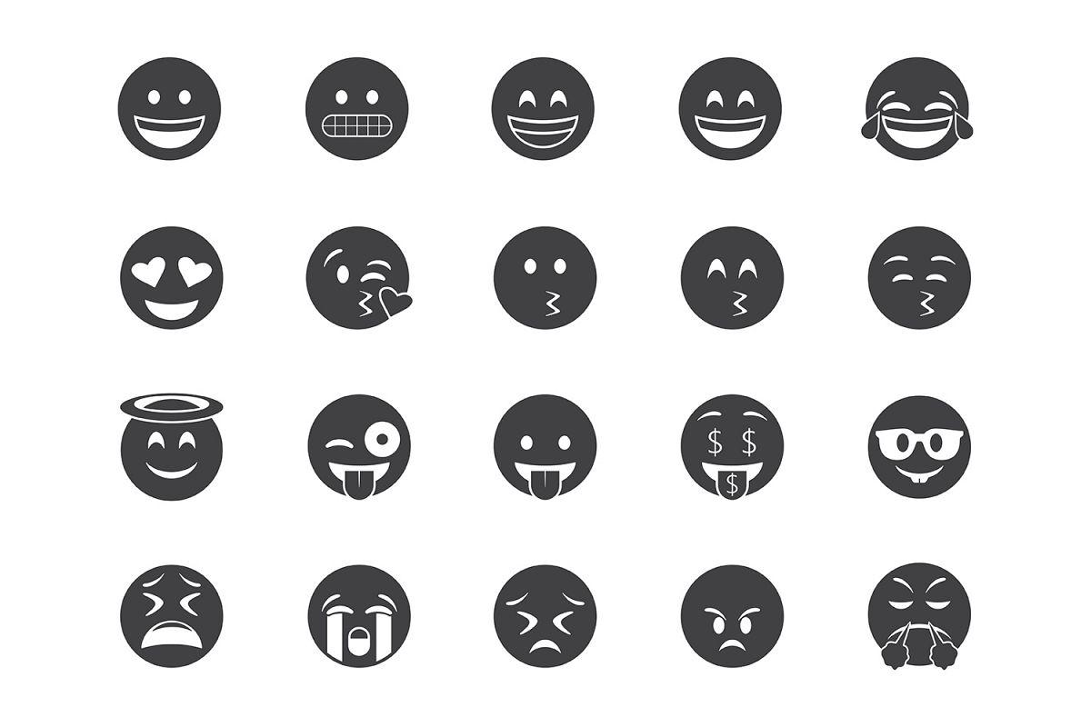 45 Emoji Flat Icons example image 1