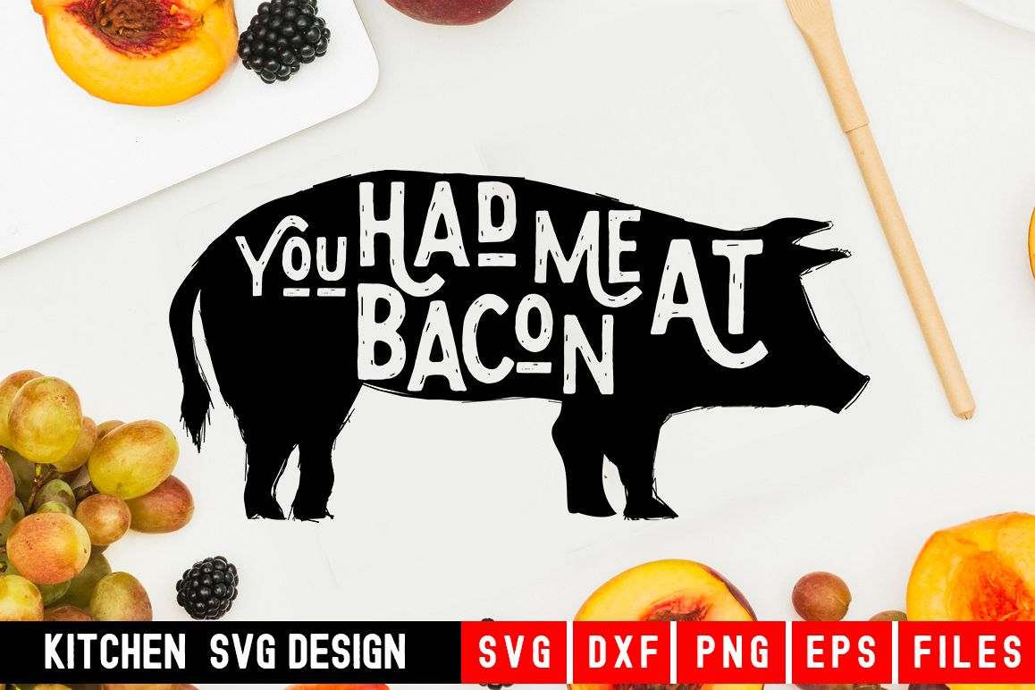 Kitchen svg|You Had Me At Bacon|Bacon svg example image 1