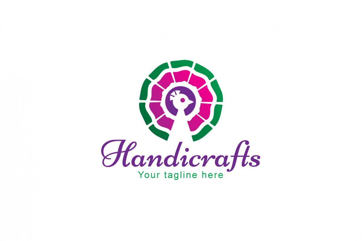 Handicrafts Peacock Bird Stock Logo Template