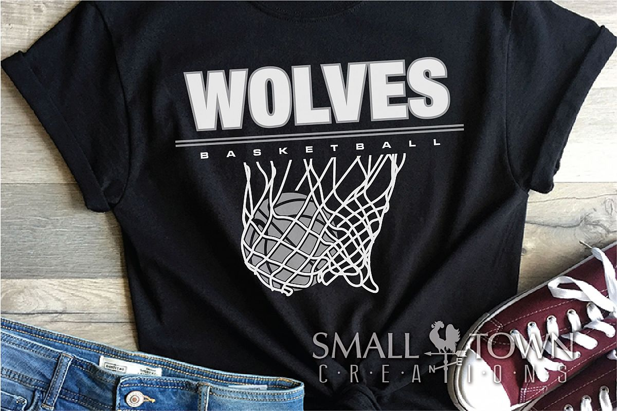 Wolves Basketball, Sport ball, team logo, PRINT, CUT, DESIGN example image 1