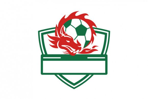 red dragon soccer ball crest by patrimo design bundles