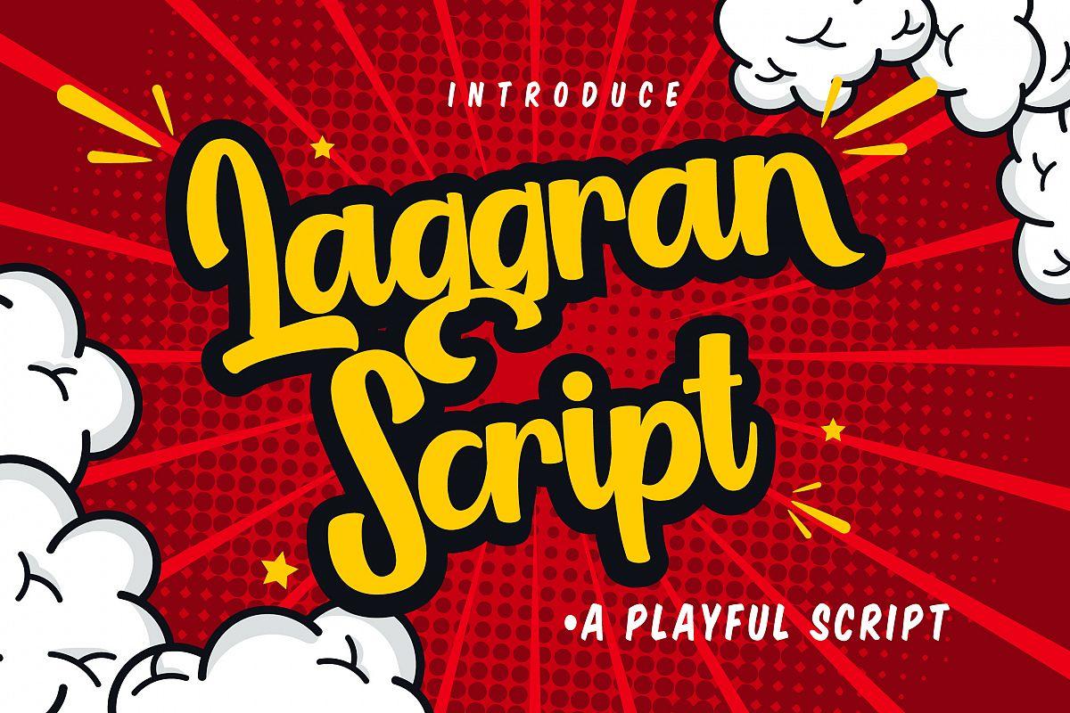 Laggran   Playful Script Font example image 1