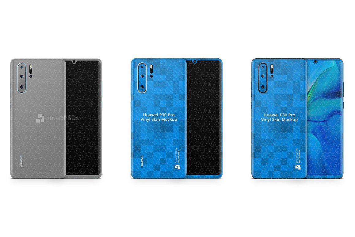 Huawei P30 Pro Vinyl Skin Design Mockup 2019 example image 1