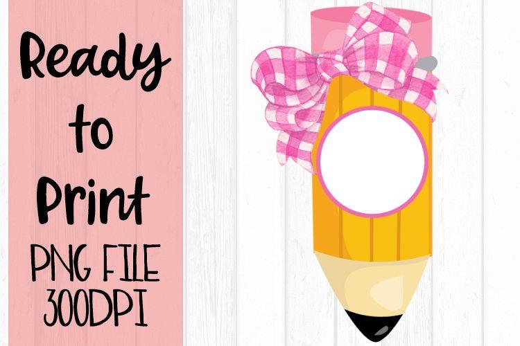 Polka Dot Bow Monogram Pencil Ready to Print example image 1