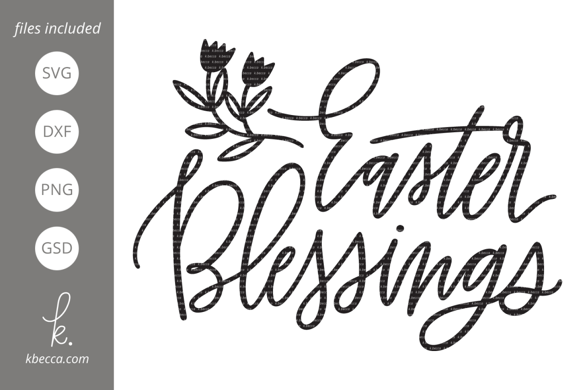 Easter Blessings Cut Files example image 1