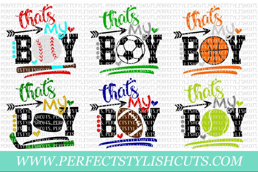 Sports SVG - That's My Boy SVG Bundle example image 1