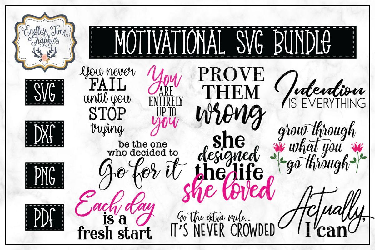 Motivational Quotes SVG Bundle -10 Unique Quotes example image 1