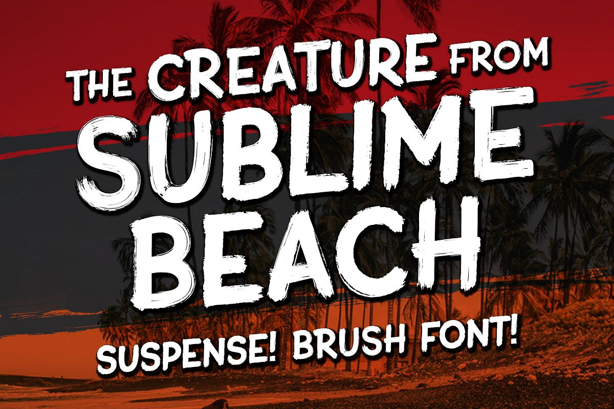 Sublime Beach Brush Font example image 1