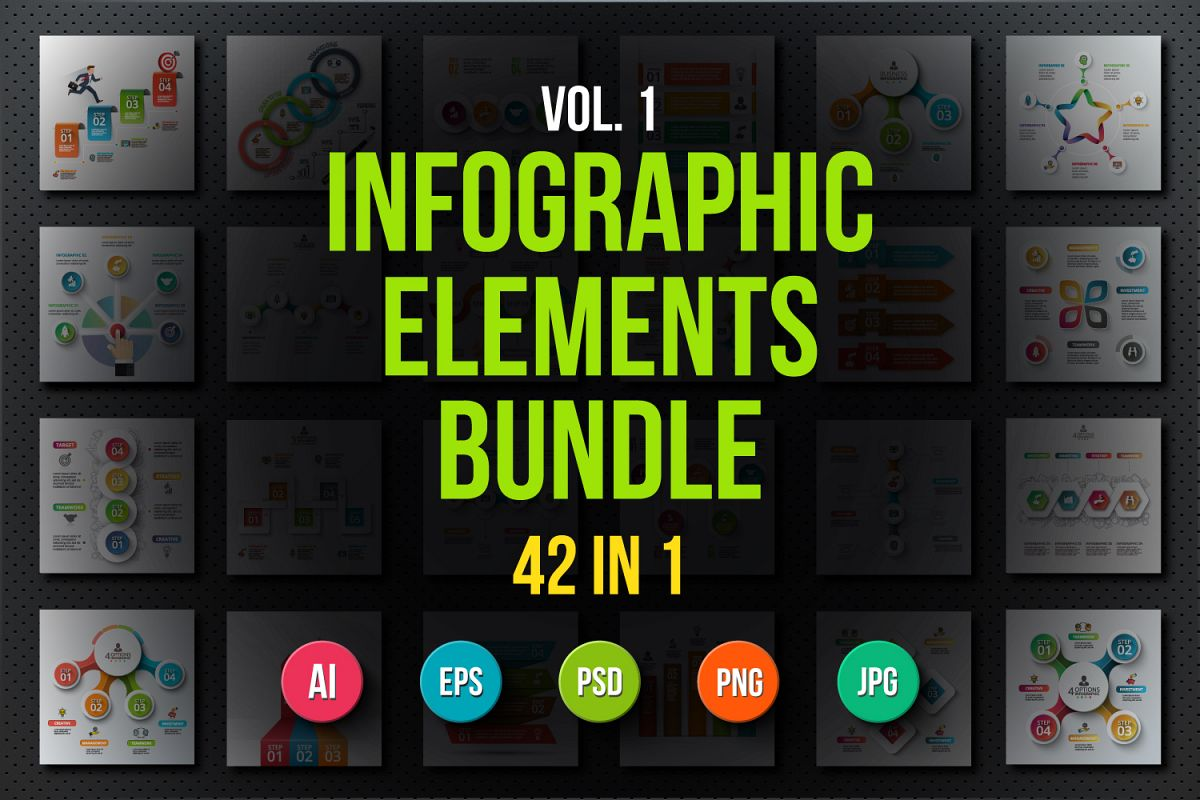 Infographic elements bundle v.01 example image 1
