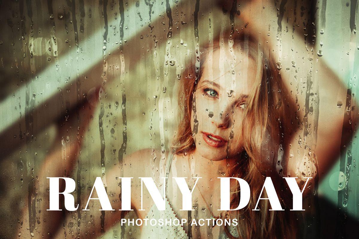 Rainy Day Photoshop Actions example image 1