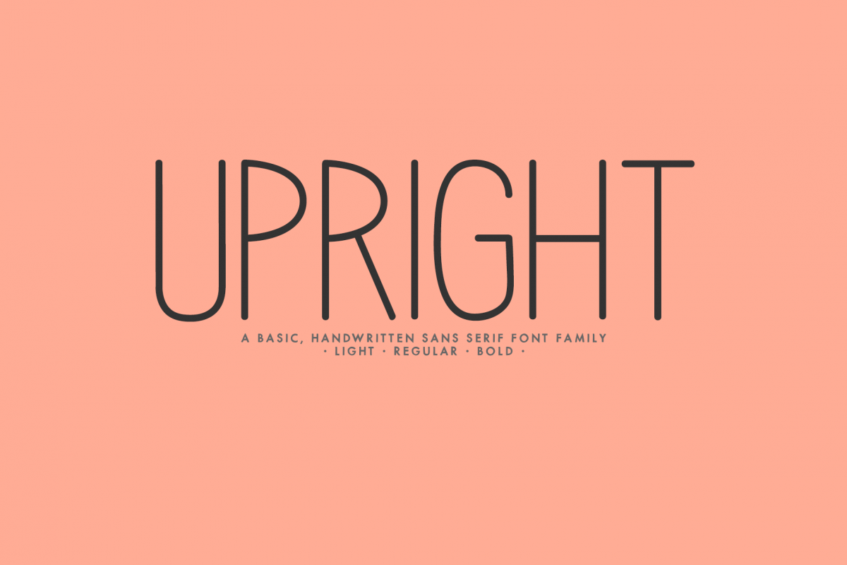 Upright - A Handwritten Sans Serif example image 1