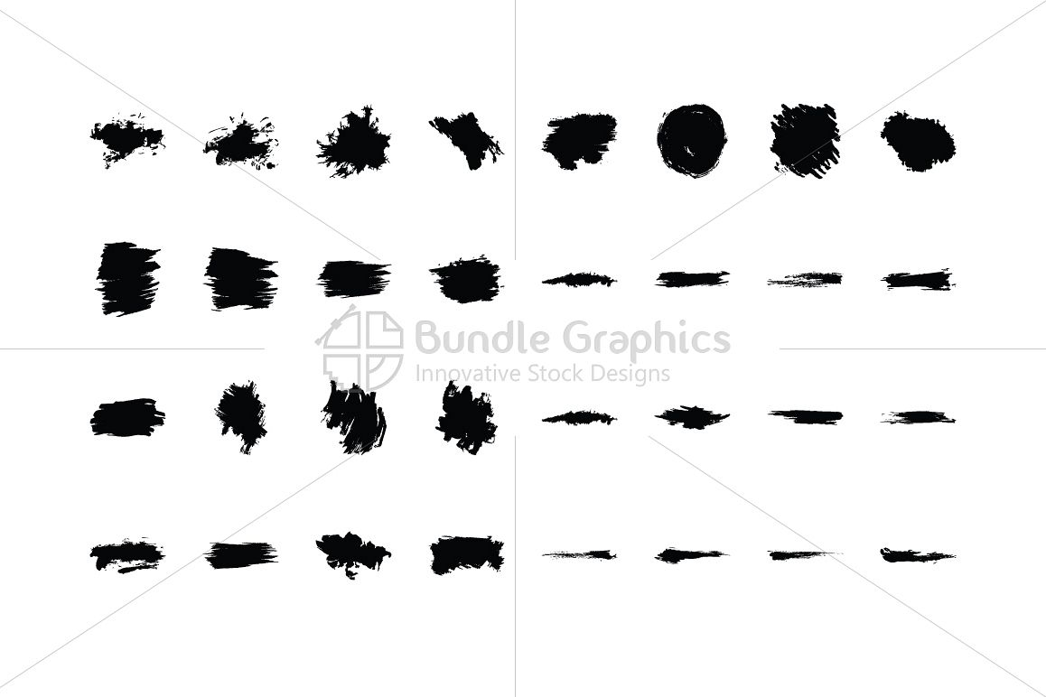 Splatters Vector Graphic Elements Set example image 1