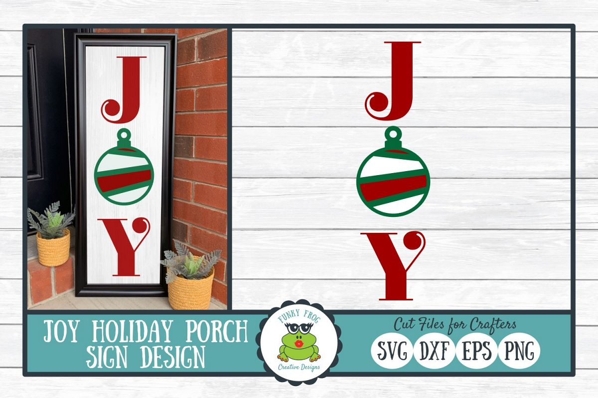 Joy Holiday Porch Sign Design, SVG Cut File for Crafters example image 1