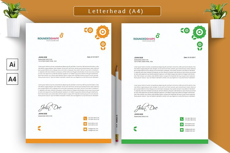 Letterhead/Cover Letter Vector Template example image 1