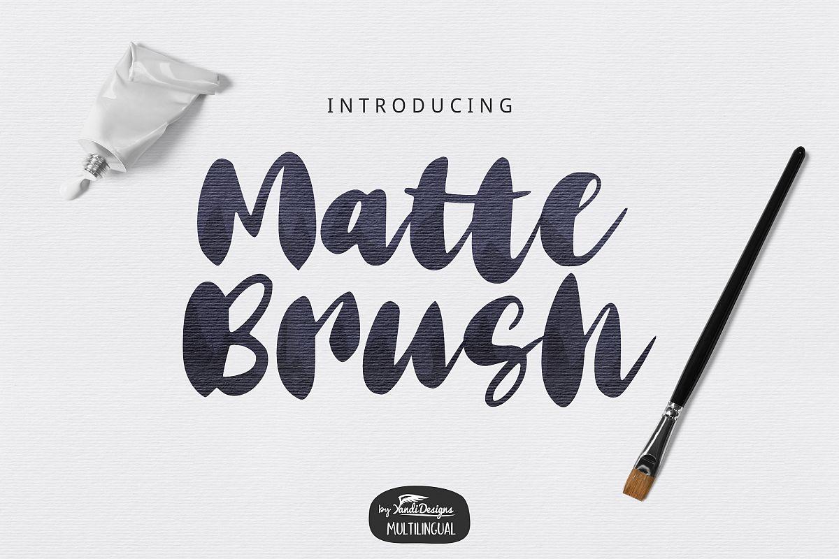 Matte Brush Font example image 1